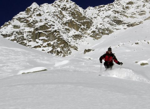 Ski mountaineering in the European Alps: technical level 2