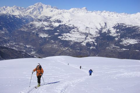 Ski mountaineering in the European Alps: technical level 3
