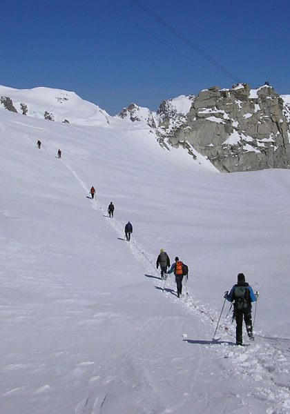 Mountaineering in the European Alps: Technical level 1